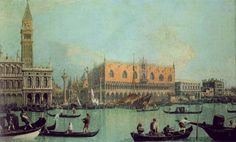"""Canaletto """"Piazzeta et Palazzo Ducale"""""""