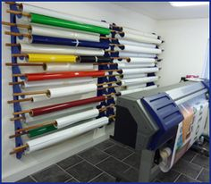 vinyl roll storage - Google Search