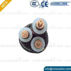 Industrial Wiring 240mm XLPE 4 Core Armoured Cable http://www.zmscable.com/26-35kV-XLPE-Cable.html