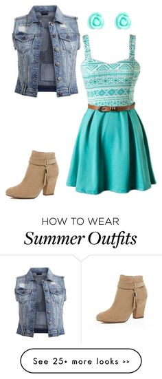 """Summer or school outfit!!"" by nmtennisgirl on Polyvore featuring VILA, River Island and Monsoon"