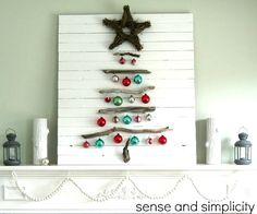 Sense and Simplicity Christmas mantel