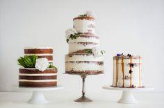 naked wedding cakes Miss Ladybird Cakes shot by Samara clifford Photography