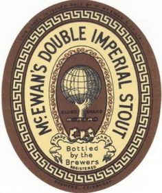 McEwan's Double Imperial Stout label 1890s(?).
