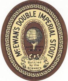 McEwan's Double Imperial Stout label 1890s(?).