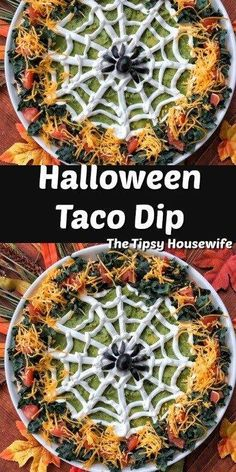 Halloween Taco Dip, Bolo Halloween, Pasteles Halloween, Halloween Party Appetizers, Looks Halloween, Halloween Dinner, Halloween Food For Party, Halloween Desserts, Halloween Puppy