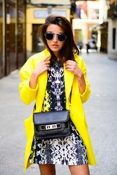 black & yellow & white