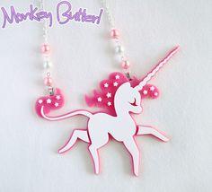 Sweet Unicorn Dulce Acrylic Necklace from Monkey Butter on Storenvy