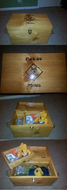 Cub scout keepsake box I need to have my dad build one of these.