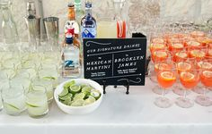 nice signature drink presentation for a more relaxed or casual wedding