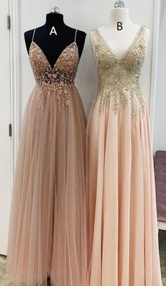 V Neck Champagne Long Party Dress from modseleystore Elegant V Neck Champagne Long Formal Dresses. Which one do you prefer?Elegant V Neck Champagne Long Formal Dresses. Which one do you prefer? Dance Dresses, Women's Dresses, Elegant Dresses, Party Dresses, Long Dresses, Dresses Online, Blush Pink Prom Dresses, Fall Dresses, Wedding Dresses