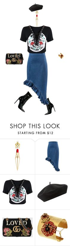 """""""IT!"""" by maria-laura-correa-da-silva ❤ liked on Polyvore featuring Christian Louboutin, Accessorize, Gucci and Misis"""