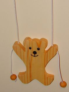 Old Fashion Climbing Bear Toy, Handmade