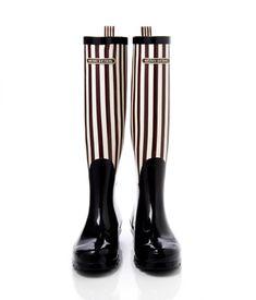 bendel girl stripe wellies - designer wellies - wellington boots for women