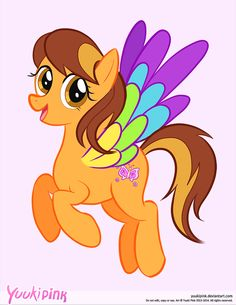 MLP inspired original pony character Indy Skyfeather. Art by Yuuki Pink. Commissioned by Disney Fairy.