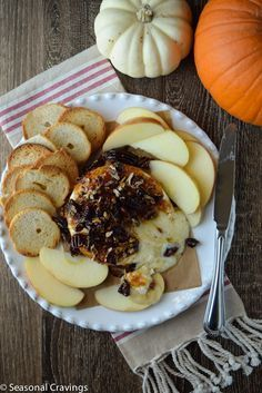 Baked Brie with Fig Jam = instant appetizer for your Thanksgiving pre-party.  Sign up for more easy recipes here http://eepurl.com/bgGhFT  #appetizer #figs #brie