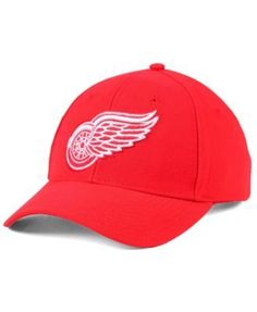 adidas Detroit Red Wings Core Basic Adjustable Snapback Cap - Red Adjustable