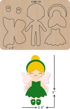 New Princess Wooden Die Cutting Dies Scrapbooking felt - Her Crochet Fairy Templates, Felt Templates, Felt Doll Patterns, Felt Crafts Patterns, Sewing Crafts, Sewing Projects, Felt Projects, Felt Fairy, Felt Quiet Books