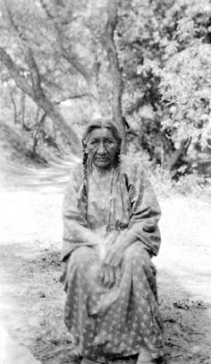 78 year old Sophie Wooden Leg (Southern Cheyenne) the wife of Richard Wooden Leg (Northern Cheyenne). She was 18 years old and in camp at the time of the Battle of the Little Bighorn. Photographed in1936.