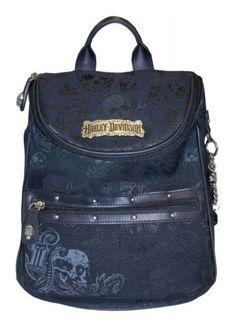 Harley-Davidson® Black Skull Backpack SJ2146J-Black #HarleyDavidson #Backpack