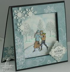 Recessed Window Card - SU Winter Post and Lovely As A Tree s. TLC 206: http://www.splitcoaststampers.com/forums/try-new-technique-f44/tlc206-recessed-window-t416393.html