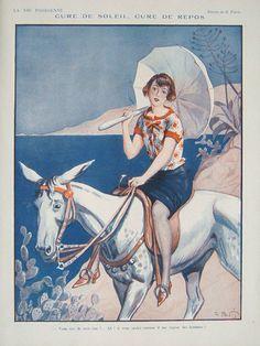 1924 La Vie Parisienne inside page / eBay