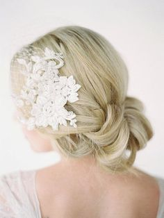 Birdcage Veil with Lace Combs