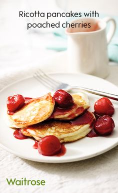 Why not try poached cherries for a delicious topping this Pancake Day? Find the recipe on the Waitrose website.