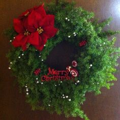 Homemade, hand-picked wreath, cost less than 10 dollars to do :-)