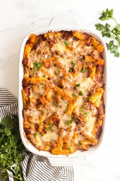 Baked Ziti with Italian Turkey Sausage is a hearty, make ahead casserole that's family and freezer friendly! A healthier twist with incredible flavor! Freezer Baked Ziti, Baked Ziti With Sausage, Turkey Pasta, Turkey Sausage, Casserole Recipes, Pasta Recipes, Freeze Ahead Meals, The Recipe Rebel, Pasta Dinners