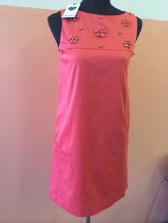 LuckyLu Milano NWT coral dress size EU36, UK8, Tg.40