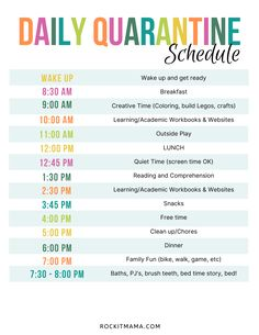 Discover recipes, home ideas, style inspiration and other ideas to try. Kindergarten Daily Schedules, Daily Schedule Kids, Preschool Schedule, Homeschool Kindergarten, Toddler Schedule, Daily Routine Chart, Homeschooling, Preschool Prep, Summer Schedule