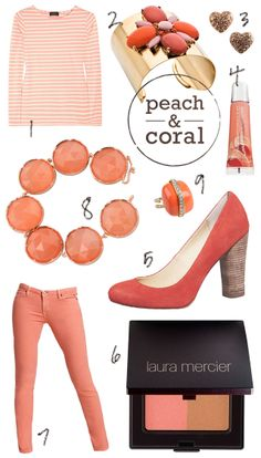 all things coral color | Luxe & Lace: Peach & Coral