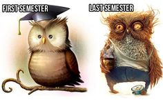 """College will mess you up. Yeah, I remember being a freshman, and thinking """"This college stuff isn't so hard"""" Pah! So wrong."""