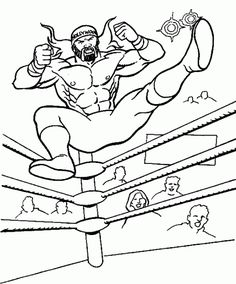 shawn michaels coloring pages - Wwe Coloring Books