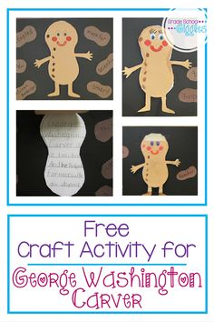 George Washington Carver was responsible for peanut butter. He was also developed a lot of other uses for peanuts. He is part of the first grade curriculum in Georgia. This post includes a video, and a free printable craftivity for teaching kids about George Washington Carver.