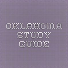Oklahoma study guide