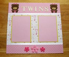 Baby Girl Twins Scrapbook Page  Baby Girl by AngelBDesigns4You