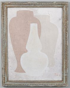 3 - Original acrylic painting on wood in antique frame by Peter Woodward