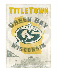 Green Bay Packers-TitleTown -  Print  - 8x10