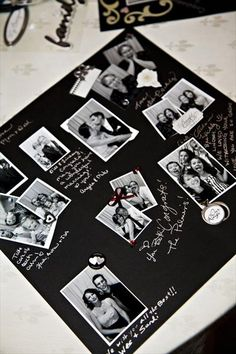 Polaroid guest book... I'm thinking ill invest in a Polaroid before all is said and done... So why not?