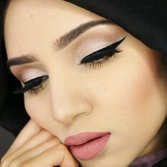 Products used: Maybaline master precise eyeliner in black Maybelline age rewind concealer in neutralizer Urban decay naked 2 palette brush Eyeliner pencil fr. Makeup Looks Tutorial, Eyeliner Tutorial, Coco Chanel Dresses, Maybelline Age Rewind Concealer, Hijab Makeup, Makeup Photography, Pencil Eyeliner, Makeup Inspo, Septum Ring