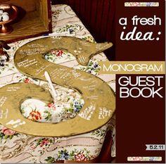 guest book monogram