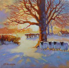 'Winter Gathering' by Ed Hunter, £360