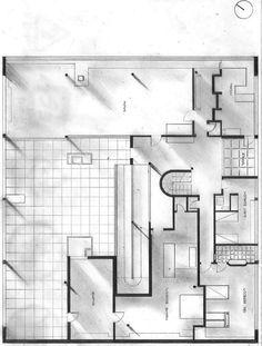 Ryan's Blog: Le Corbusier's Villa Savoye - parti and poche drawings #Architecture
