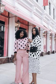 New Fashion Outfits Women Winter Polka Dots Ideas Dots Fashion, Black Women Fashion, Trendy Fashion, Fashion Looks, Womens Fashion, Korean Fashion, Khadra, Estilo Cool, Moda Do Momento