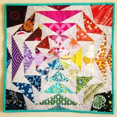Looking for quilting project inspiration? Check out 70s Rainbow Geese by member Kelbysews.