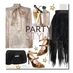"""""""NYE Party Style"""" by beebeely-look ❤ liked on Polyvore featuring Yves Saint Laurent, NewYears, party, bows, sammydress and NYW"""