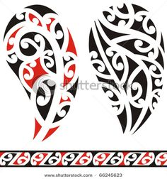 Find Set Maori Tribal Tattoo stock images in HD and millions of other royalty-free stock photos, illustrations and vectors in the Shutterstock collection. Tahitian Tattoo, Maori Tribal Tattoo, Maori Art, Koru Tattoo, Leg Tattoos, Girl Tattoos, Tattoo About Strength, Maori Patterns, Adventure Tattoo