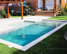 Small Inground Pool, Small Swimming Pools, Luxury Swimming Pools, Small Backyard Pools, Backyard Pool Designs, Small Pools, Swimming Pools Backyard, Swimming Pool Designs, Pool Landscaping