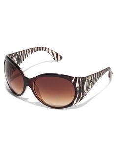 GUESS Plastic Zebra-Print Sunglasses